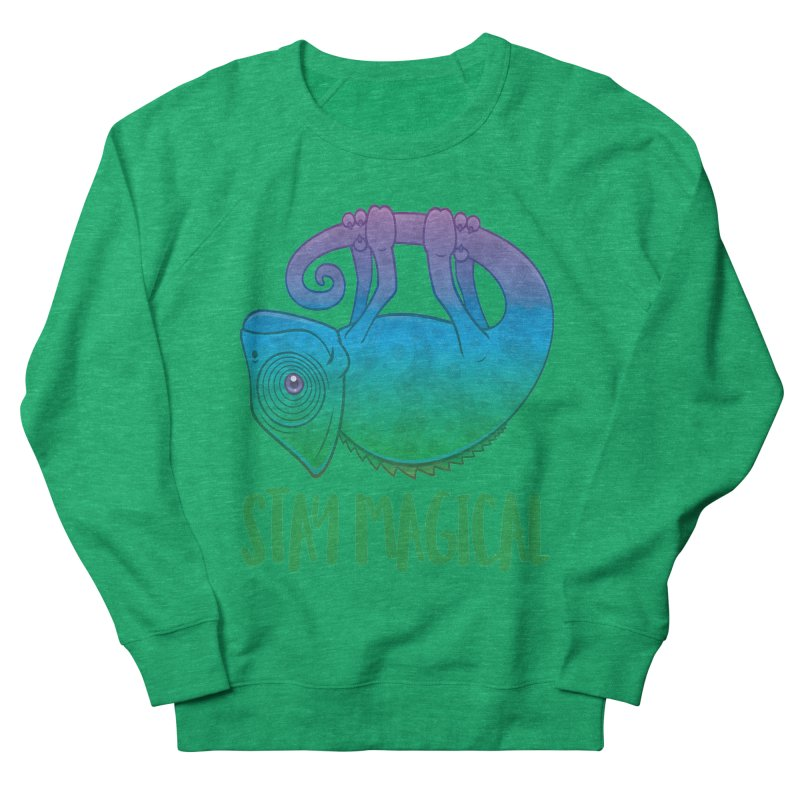 Stay Magical Levitating Chameleon Women's French Terry Sweatshirt by Fizzgig's Artist Shop