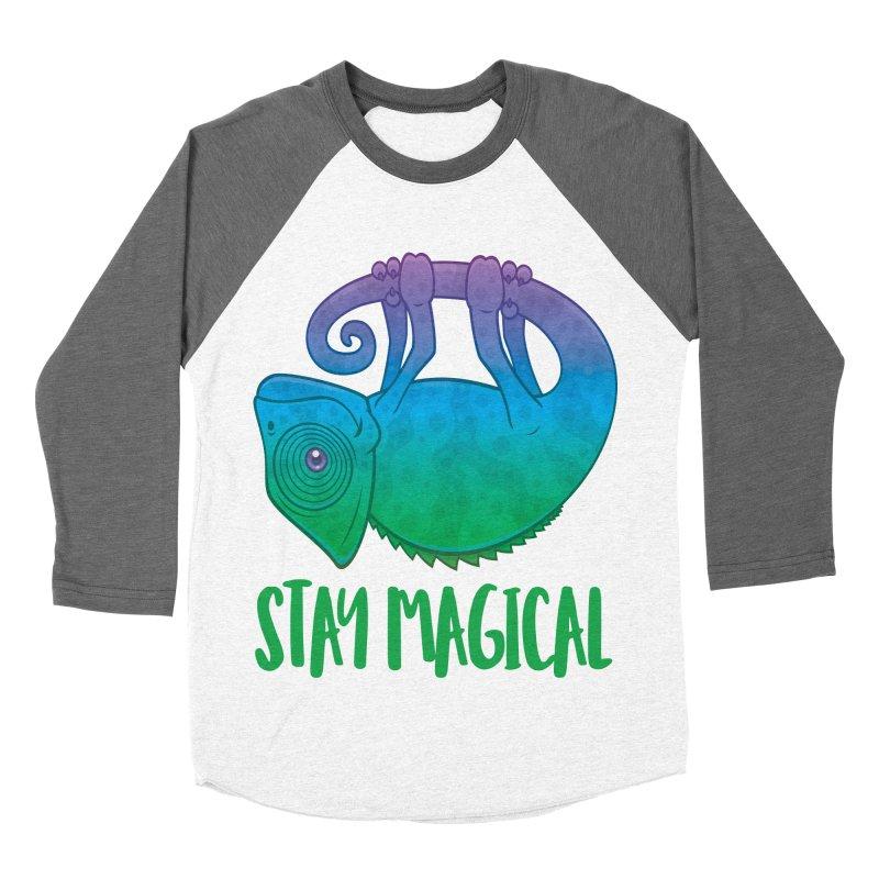 Stay Magical Levitating Chameleon Women's Baseball Triblend Longsleeve T-Shirt by Fizzgig's Artist Shop