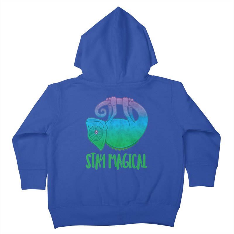 Stay Magical Levitating Chameleon Kids Toddler Zip-Up Hoody by Fizzgig's Artist Shop