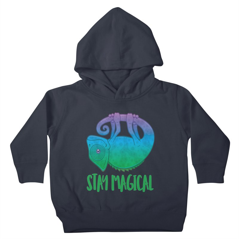 Stay Magical Levitating Chameleon Kids Toddler Pullover Hoody by Fizzgig's Artist Shop