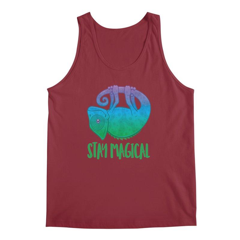 Stay Magical Levitating Chameleon Men's Regular Tank by Fizzgig's Artist Shop