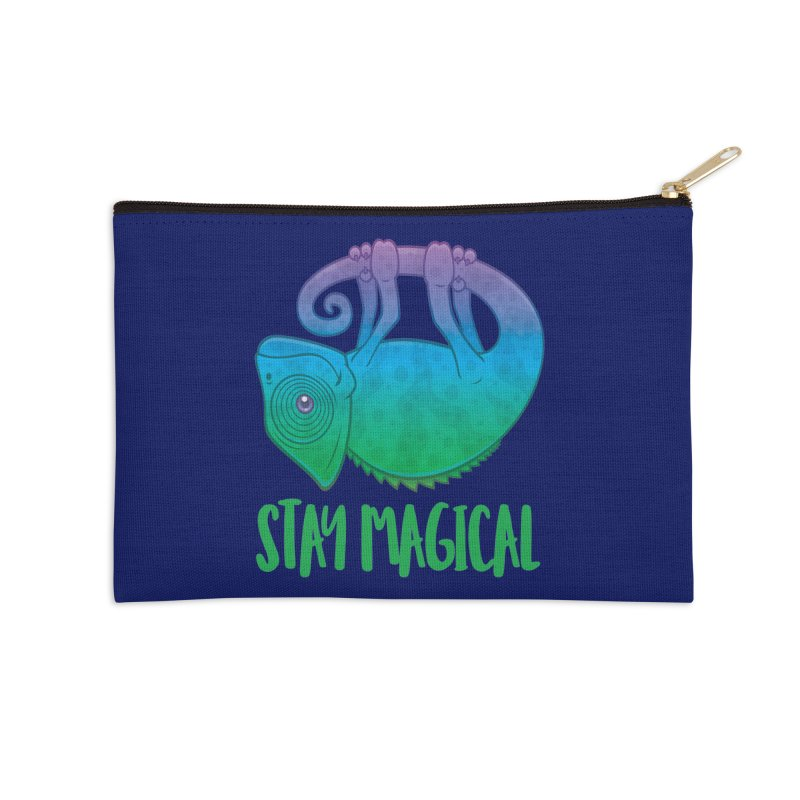Stay Magical Levitating Chameleon Accessories Zip Pouch by Fizzgig's Artist Shop