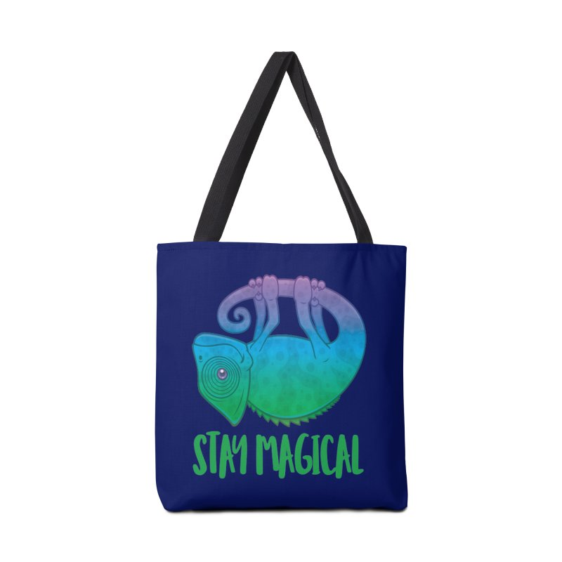 Stay Magical Levitating Chameleon Accessories Bag by Fizzgig's Artist Shop