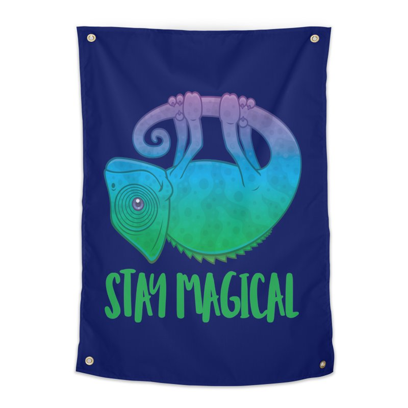 Stay Magical Levitating Chameleon Home Tapestry by Fizzgig's Artist Shop