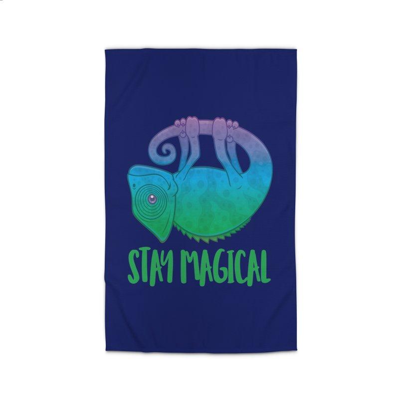 Stay Magical Levitating Chameleon Home Rug by Fizzgig's Artist Shop
