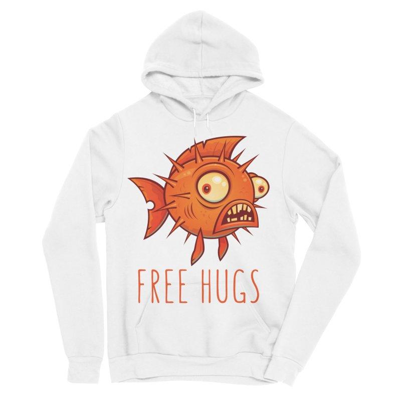 Free Hugs Cartoon Blowfish Men's Sponge Fleece Pullover Hoody by Fizzgig's Artist Shop