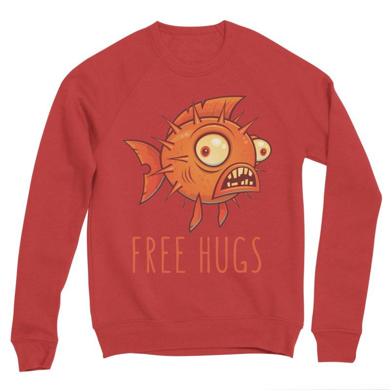 Free Hugs Cartoon Blowfish Women's Sponge Fleece Sweatshirt by Fizzgig's Artist Shop