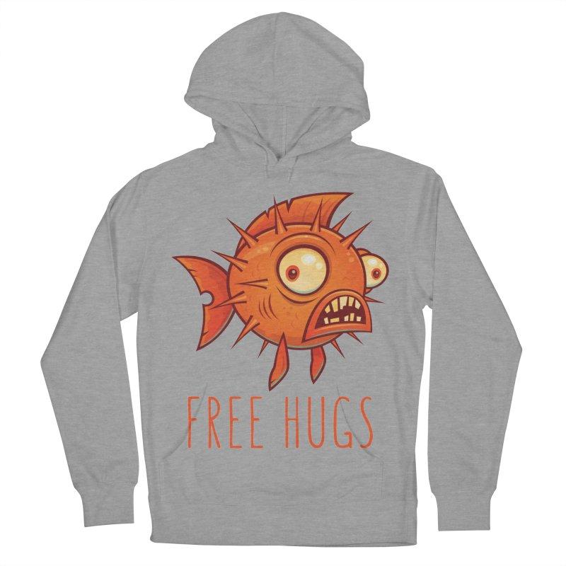 Free Hugs Cartoon Blowfish Men's French Terry Pullover Hoody by Fizzgig's Artist Shop