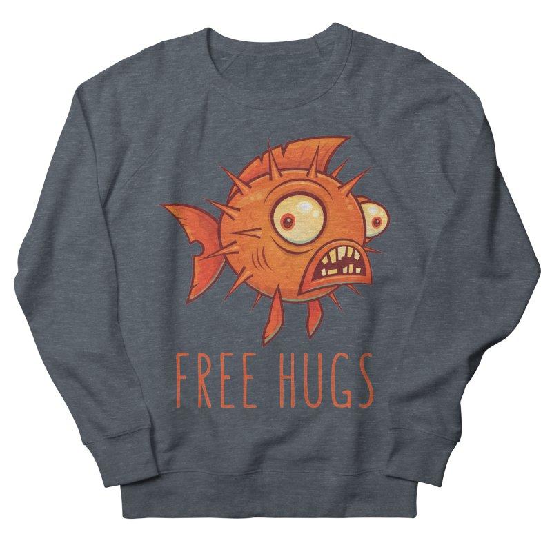 Free Hugs Cartoon Blowfish Women's French Terry Sweatshirt by Fizzgig's Artist Shop