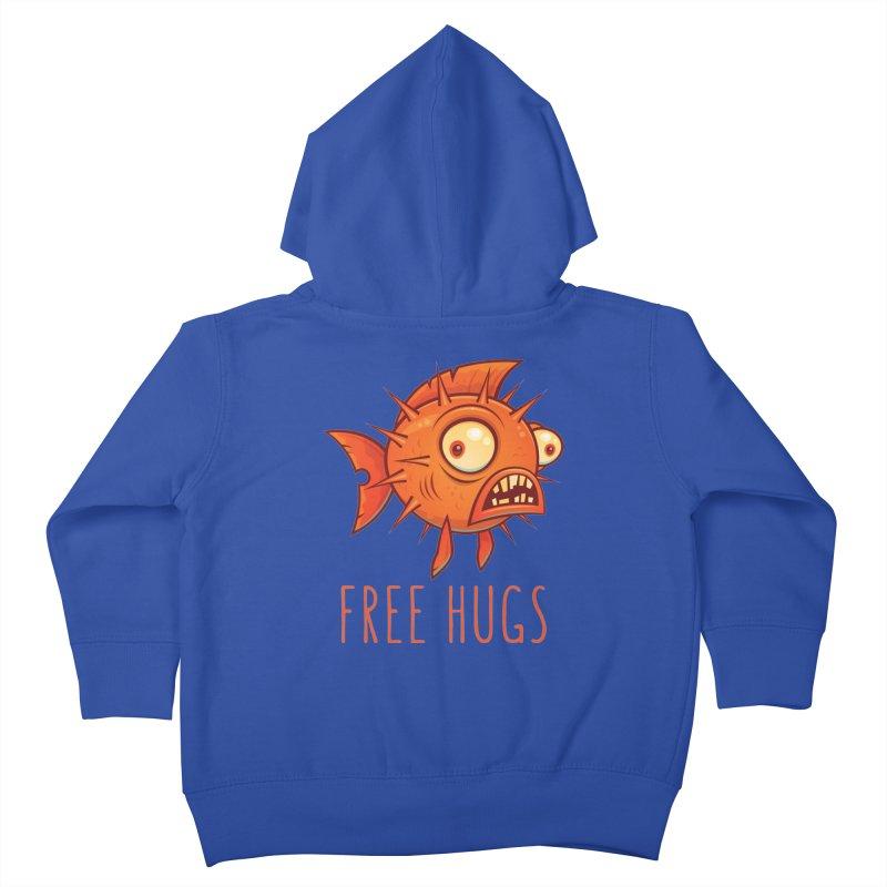 Free Hugs Cartoon Blowfish Kids Toddler Zip-Up Hoody by Fizzgig's Artist Shop