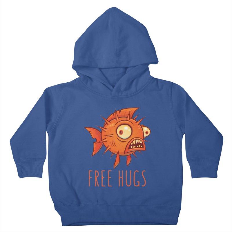 Free Hugs Cartoon Blowfish Kids Toddler Pullover Hoody by Fizzgig's Artist Shop