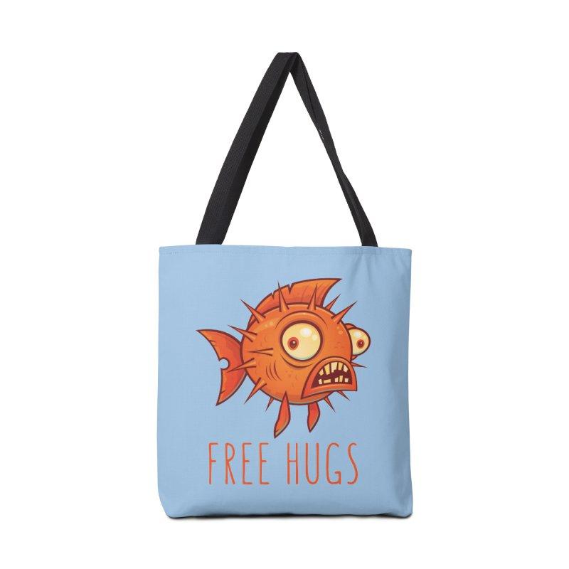 Free Hugs Cartoon Blowfish Accessories Bag by Fizzgig's Artist Shop