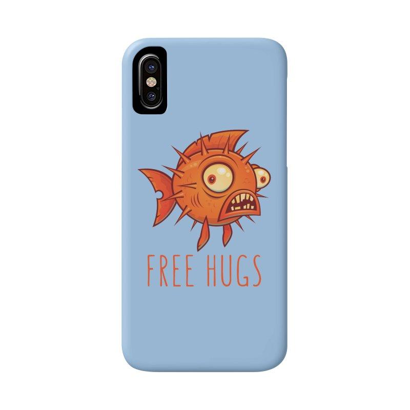 Free Hugs Cartoon Blowfish Accessories Phone Case by Fizzgig's Artist Shop