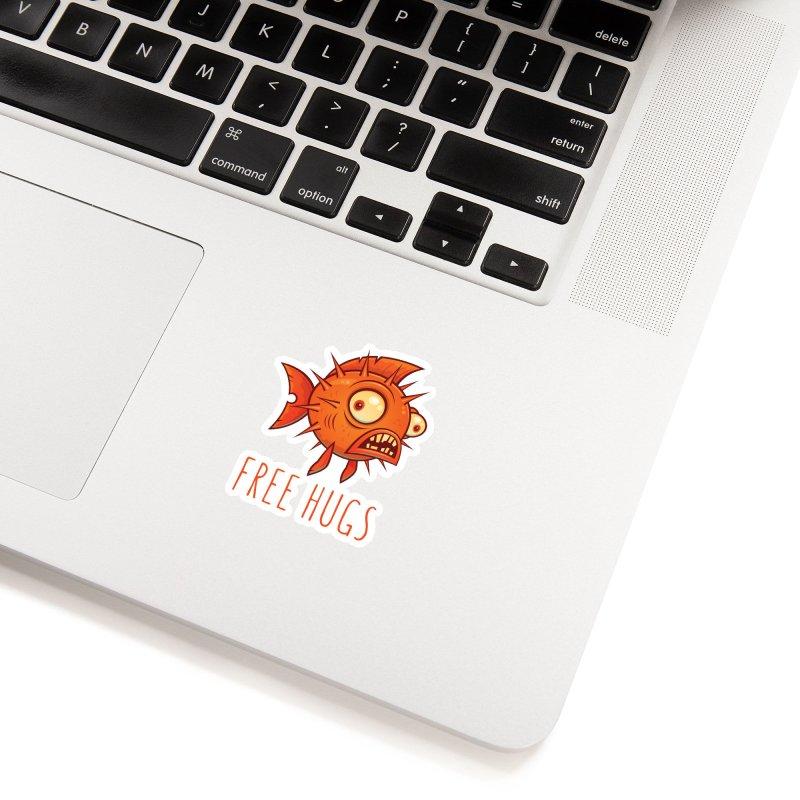 Free Hugs Cartoon Blowfish Accessories Sticker by Fizzgig's Artist Shop