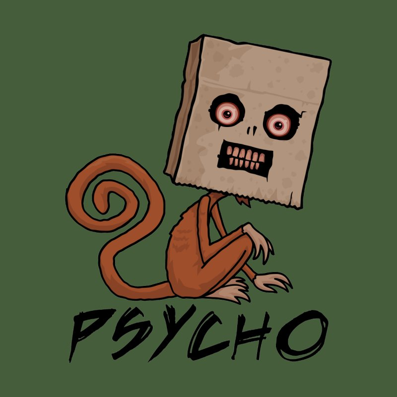 Psycho Sack Monkey with Text by Fizzgig's Artist Shop
