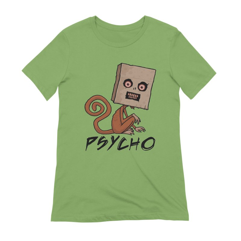 Psycho Sack Monkey with Text Women's Extra Soft T-Shirt by Fizzgig's Artist Shop