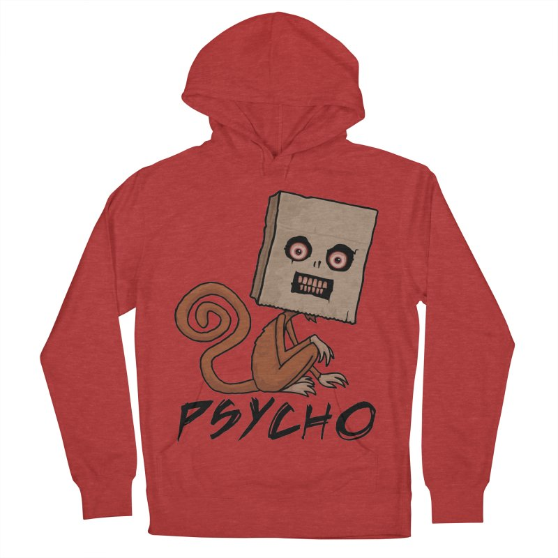 Psycho Sack Monkey with Text Women's French Terry Pullover Hoody by Fizzgig's Artist Shop