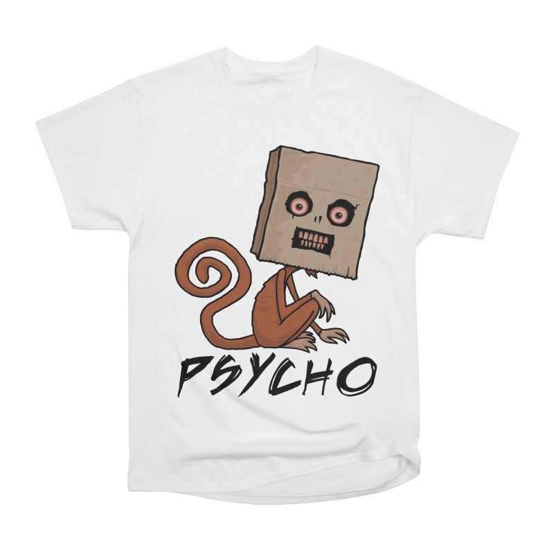 Psycho Sack Monkey with Text Men's Heavyweight T-Shirt by Fizzgig's Artist Shop