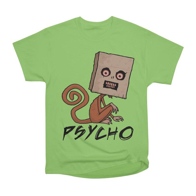 Psycho Sack Monkey with Text Women's Heavyweight Unisex T-Shirt by Fizzgig's Artist Shop