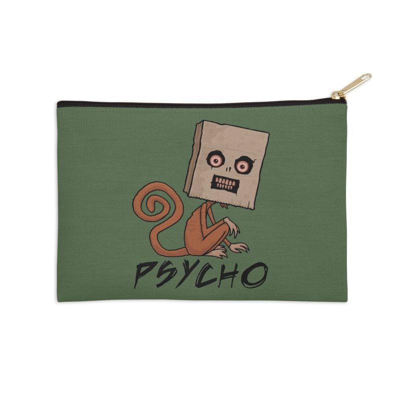 Psycho Sack Monkey with Text Accessories Zip Pouch by Fizzgig's Artist Shop