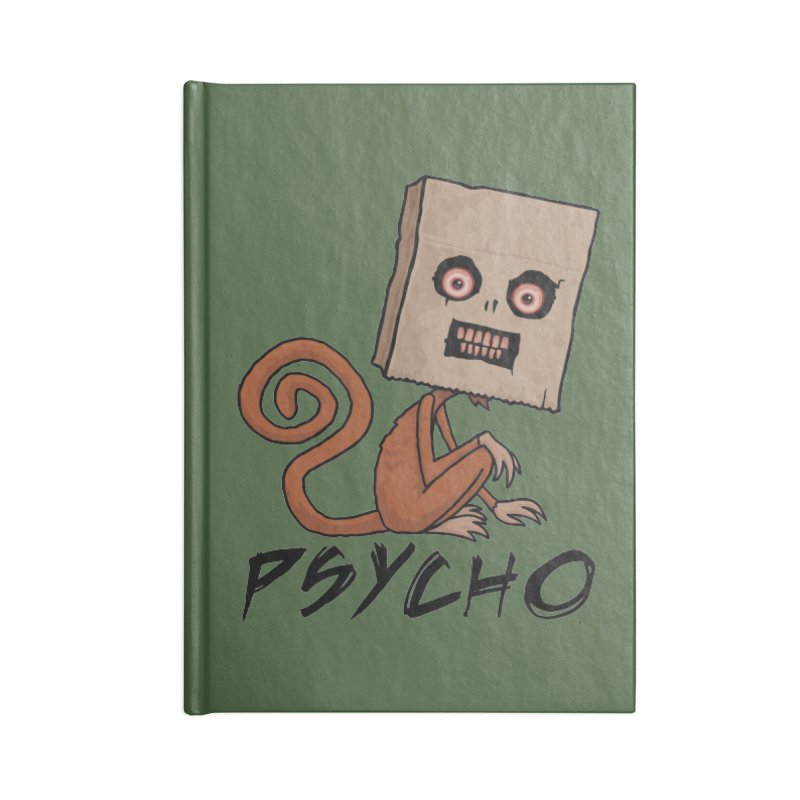 Psycho Sack Monkey with Text Accessories Notebook by Fizzgig's Artist Shop