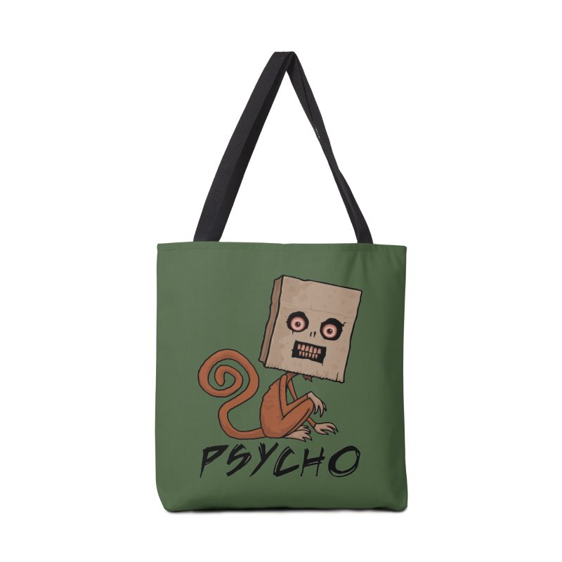 Psycho Sack Monkey with Text Accessories Bag by Fizzgig's Artist Shop