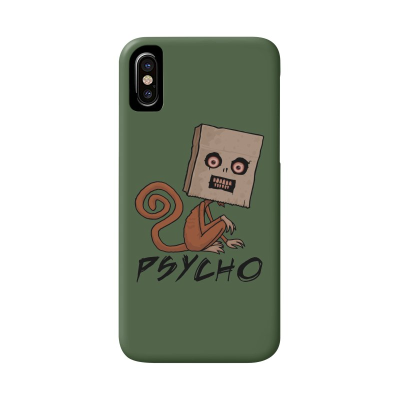 Psycho Sack Monkey with Text Accessories Phone Case by Fizzgig's Artist Shop
