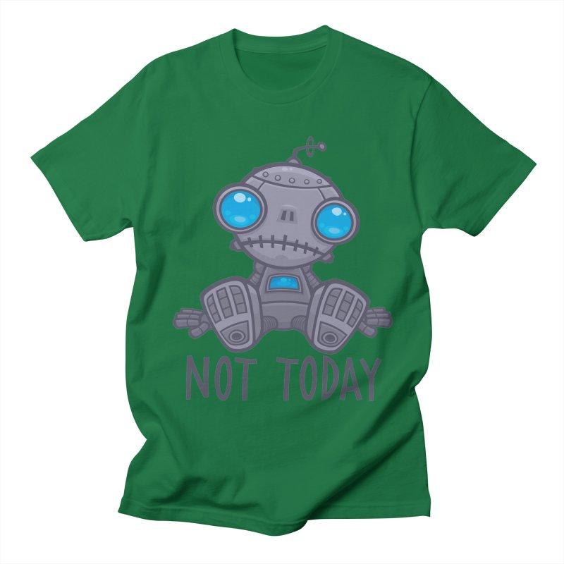 Not Today Sad Robot Men's Regular T-Shirt by Fizzgig's Artist Shop