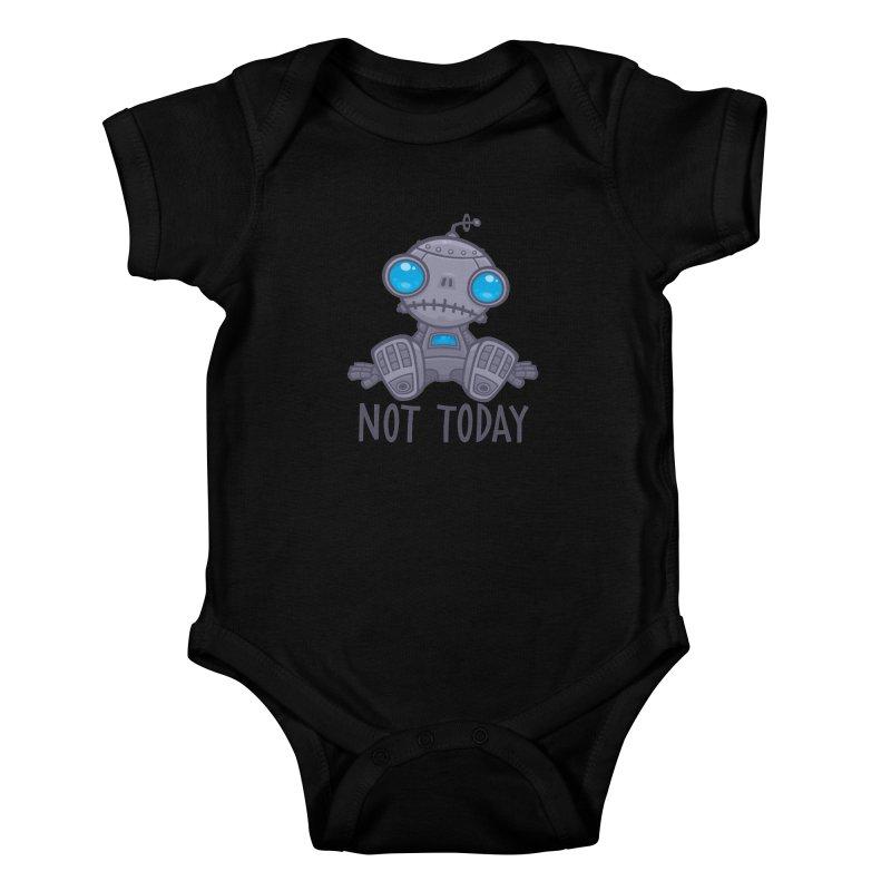 Not Today Sad Robot Kids Baby Bodysuit by Fizzgig's Artist Shop