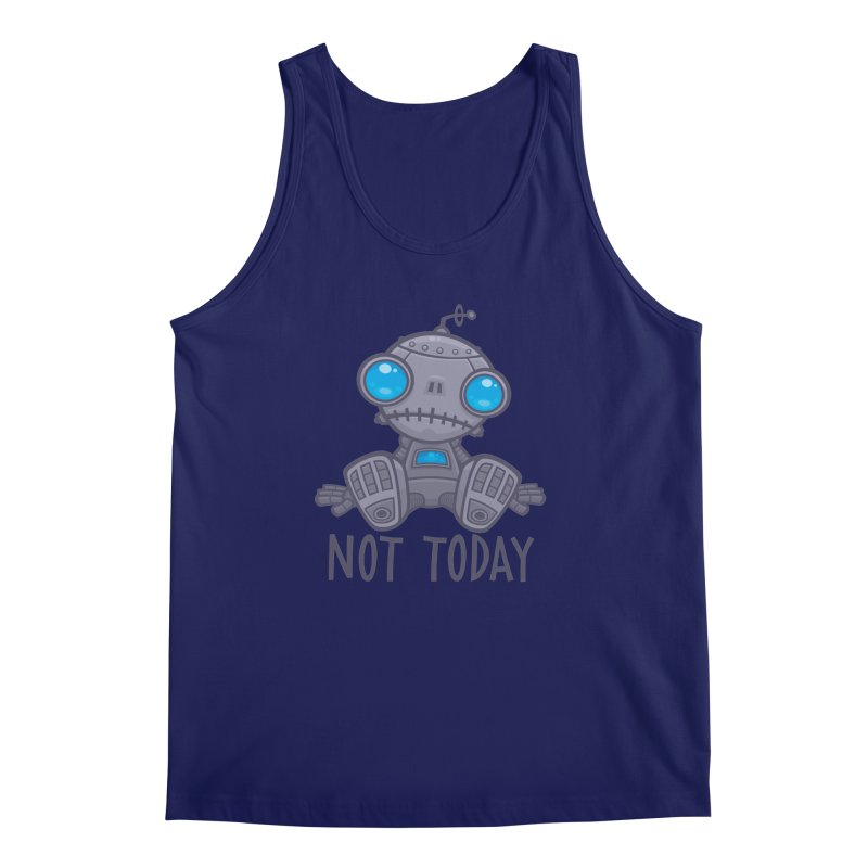 Not Today Sad Robot Men's Regular Tank by Fizzgig's Artist Shop