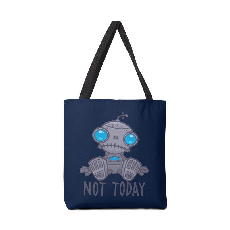 Not Today Sad Robot Accessories Bag by Fizzgig's Artist Shop