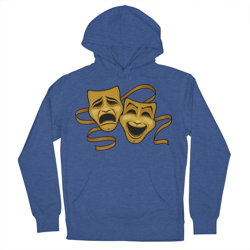 Gold Comedy And Tragedy Theater Masks Men's French Terry Pullover Hoody by Fizzgig's Artist Shop