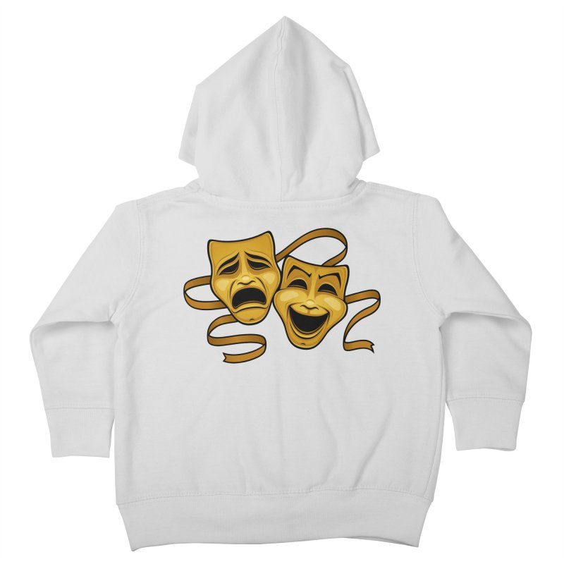 Gold Comedy And Tragedy Theater Masks Kids Toddler Zip-Up Hoody by Fizzgig's Artist Shop
