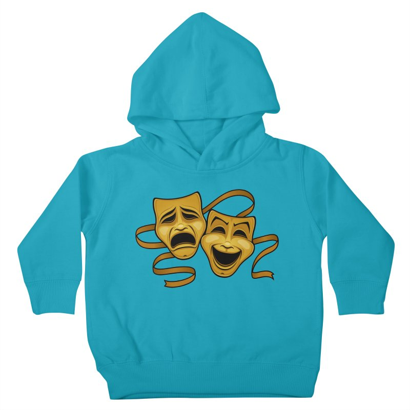Gold Comedy And Tragedy Theater Masks Kids Toddler Pullover Hoody by Fizzgig's Artist Shop