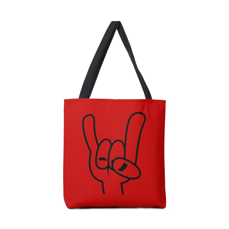 Heavy Metal Devil Horns Black Line Accessories Bag by Fizzgig's Artist Shop