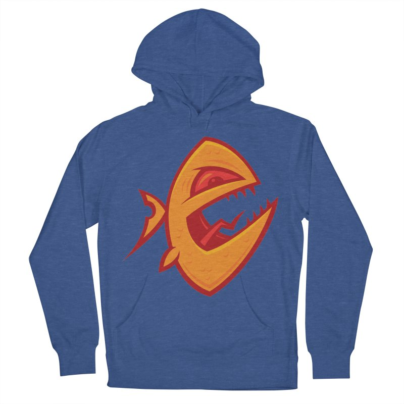 Piranha Men's French Terry Pullover Hoody by Fizzgig's Artist Shop
