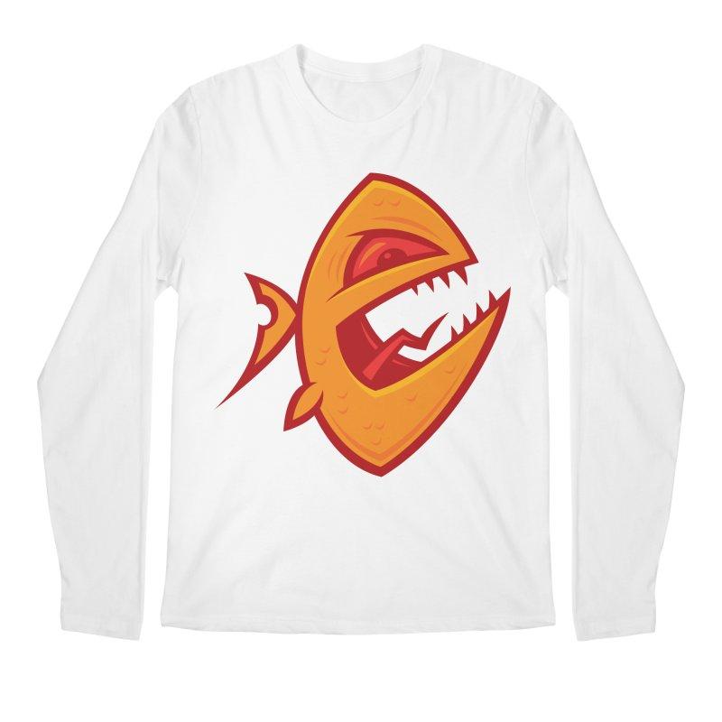 Piranha Men's Regular Longsleeve T-Shirt by Fizzgig's Artist Shop