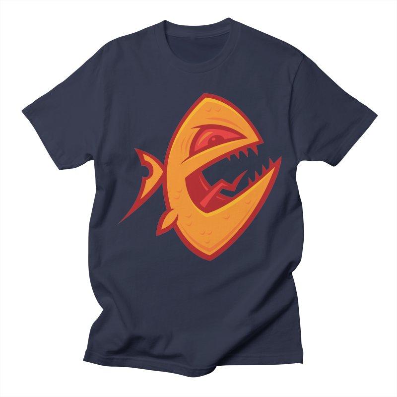 Piranha Men's Regular T-Shirt by Fizzgig's Artist Shop