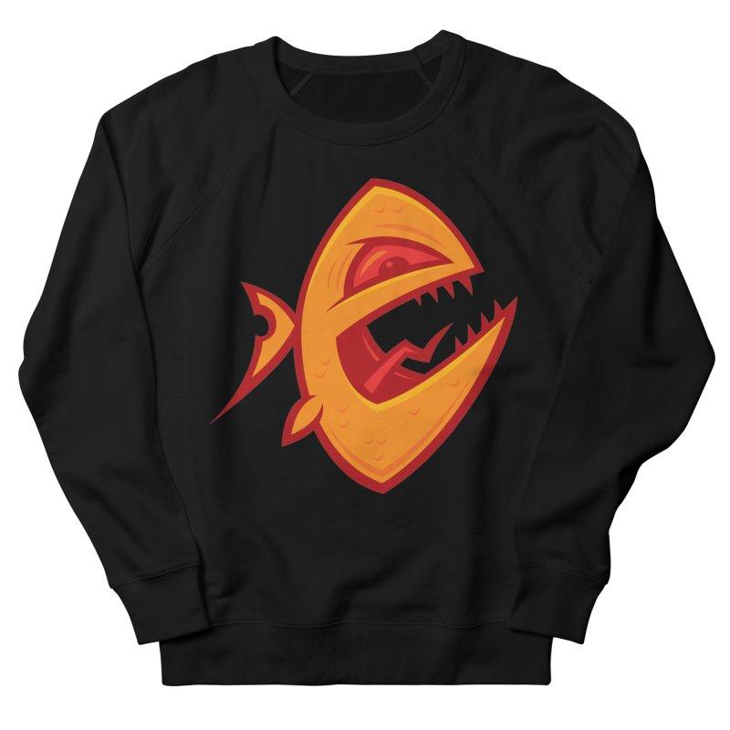 Piranha Men's French Terry Sweatshirt by Fizzgig's Artist Shop