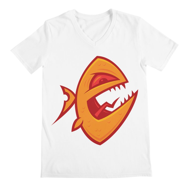 Piranha Men's Regular V-Neck by Fizzgig's Artist Shop