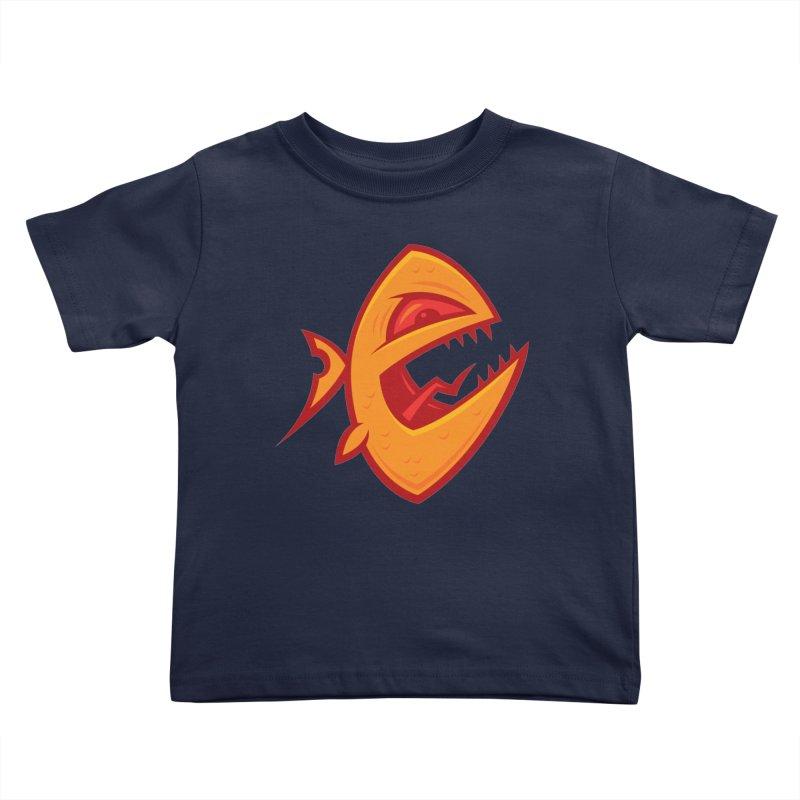 Piranha Kids Toddler T-Shirt by Fizzgig's Artist Shop