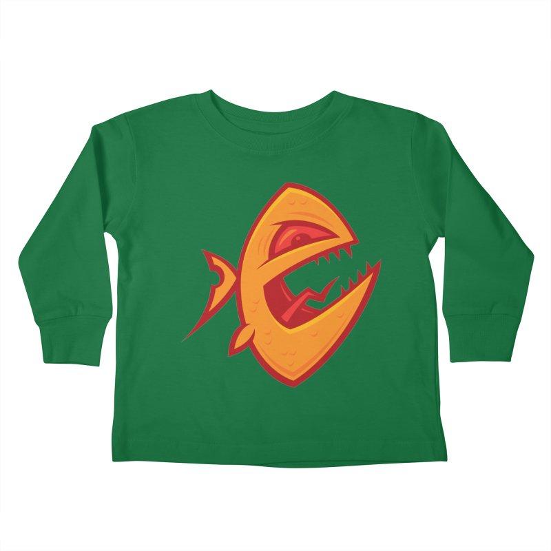 Piranha Kids Toddler Longsleeve T-Shirt by Fizzgig's Artist Shop