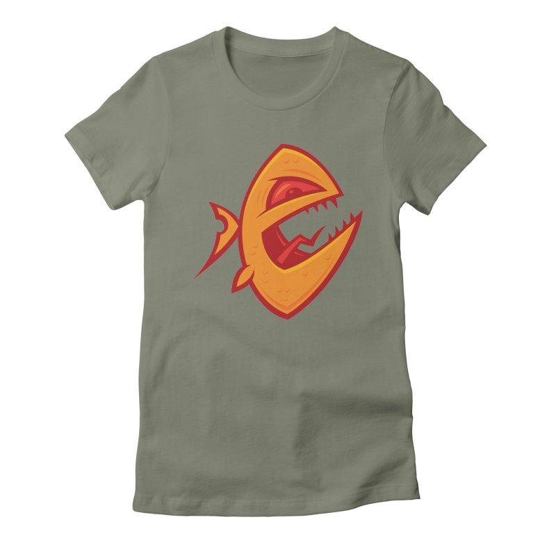 Piranha Women's Fitted T-Shirt by Fizzgig's Artist Shop