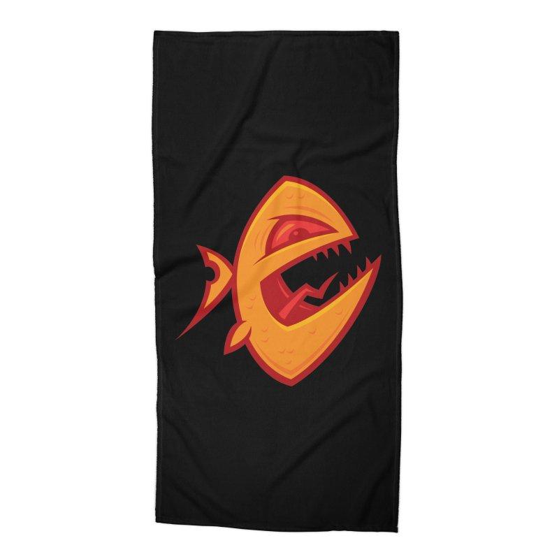 Piranha Accessories Beach Towel by Fizzgig's Artist Shop