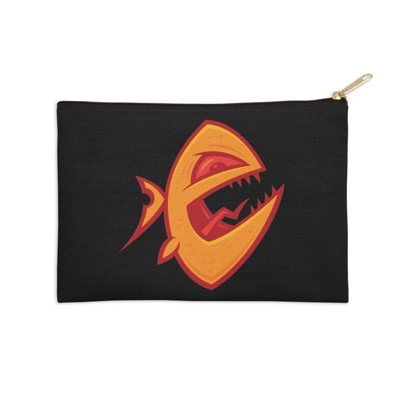 Piranha Accessories Zip Pouch by Fizzgig's Artist Shop