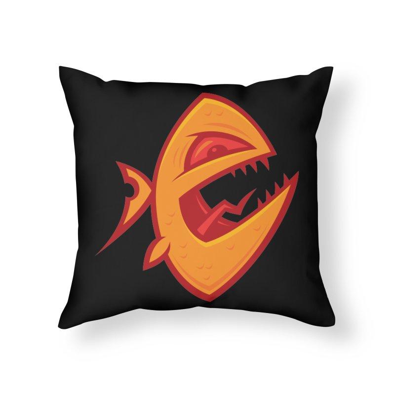 Piranha Home Throw Pillow by Fizzgig's Artist Shop