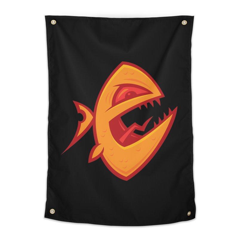 Piranha Home Tapestry by Fizzgig's Artist Shop