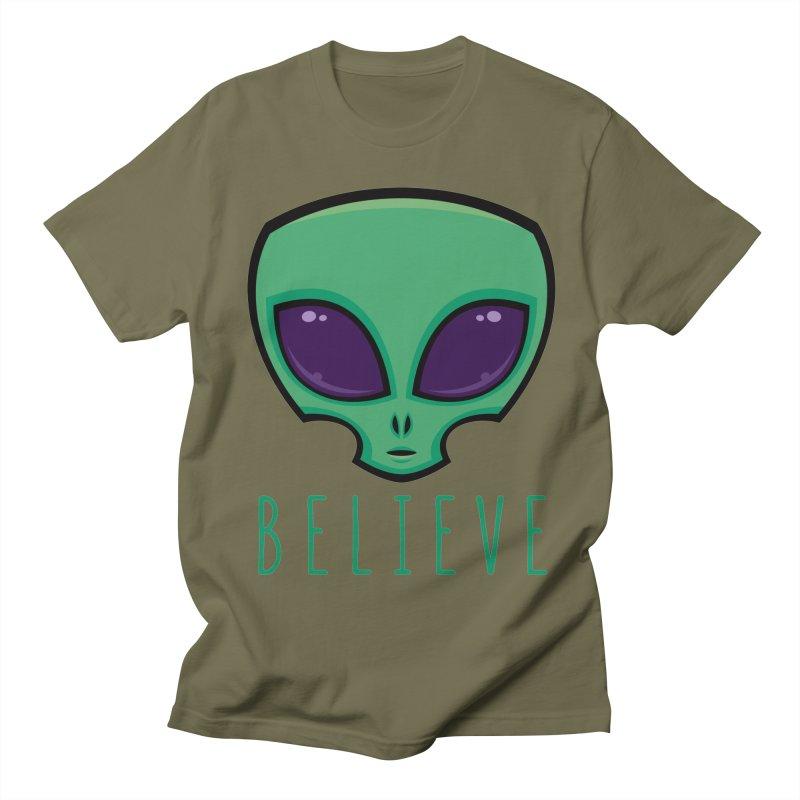 Believe Alien Head Women's Regular Unisex T-Shirt by Fizzgig's Artist Shop