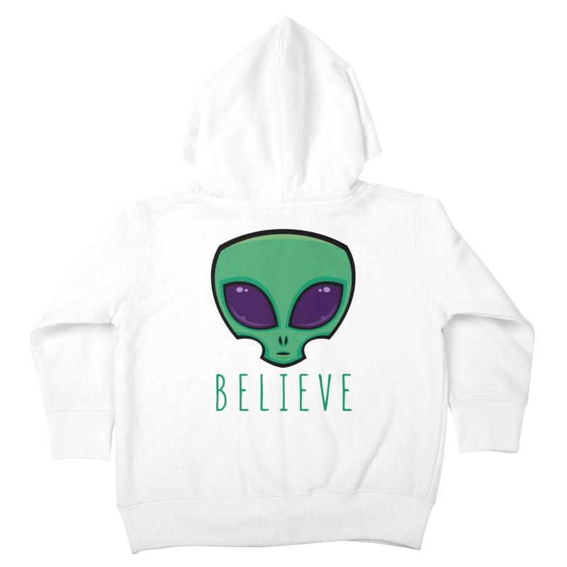 Believe Alien Head Kids Toddler Zip-Up Hoody by Fizzgig's Artist Shop
