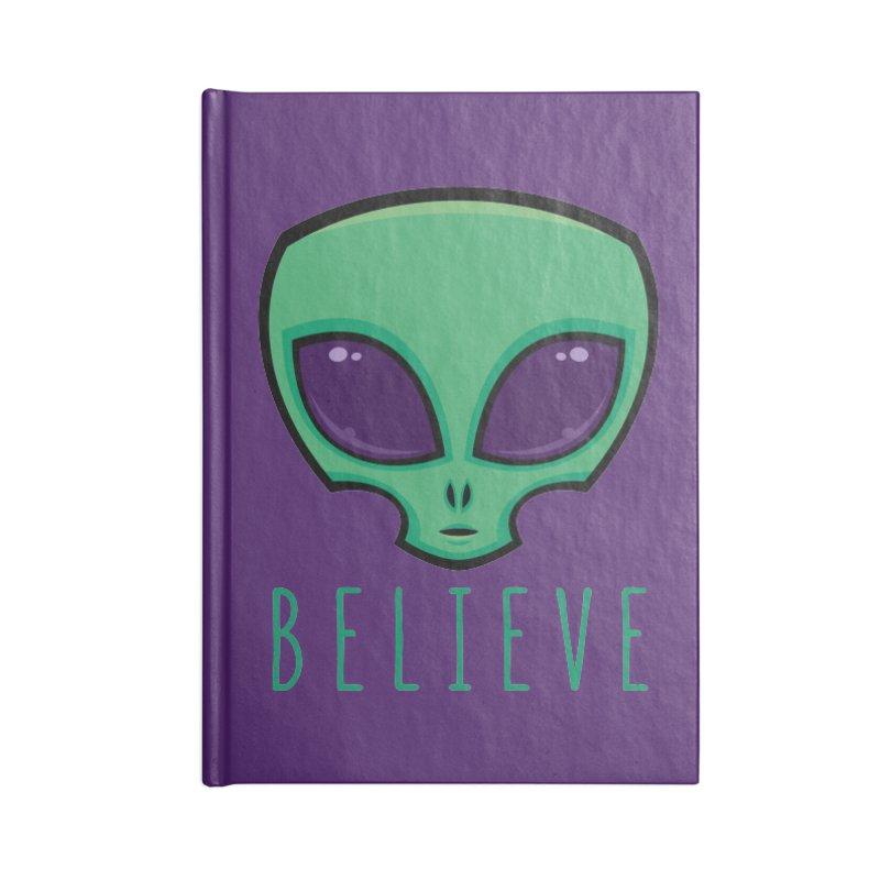 Believe Alien Head Accessories Notebook by Fizzgig's Artist Shop